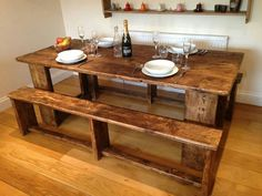 Old scaffolding planks to make patio furniture