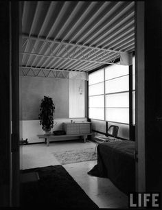 The Eames House is a landmark of mid-20th century modern architecture, constructed by Charles and Ray Eames