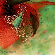 Sonora * magic necklace wirewrapping * wirewrapped * jewelry * copper * romantic * fantasy * fairy * elf * fairytale * magic * art nouveau * handmade