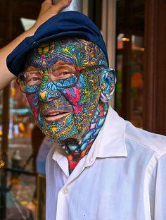 Fancy - Fully tattoed man in New York City