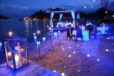 Wedding celebration on Porto Mare beach, Montenegro