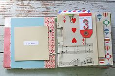 Holiday Journal/December Daily 2011...like the use of the card for a day's number #SimpleDecDaily