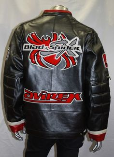 Details about AVIREX, CARTOON, BOMBER LEATHER JACKET, 21G005W ...