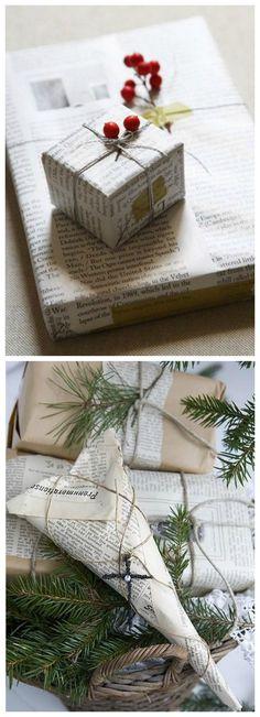 Envolver regalos periódico