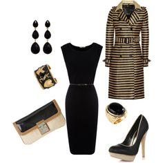 Classic Black, created by #susie-durden-reed on #polyvore. #fashion #style #Oasis Burberry Prorsum