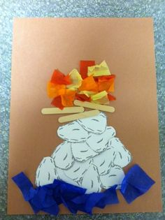 Craft for Elijah and the prophets of Baal. No instructions but you can get the idea. Look for clip art rocks to print.