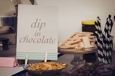 DIY Dessert Bar: lay out an assortment of goodies and have guests mix and match their own creations. Debut Ideas, Dessert Bars, Goodies, Place Card Holders, Chocolate, Creative, Ph, Desserts, Food