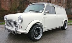 1967 White Austin Mini Van Modified