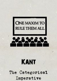 Kant's Categorical Imperative is a moral law that states the conditions for when a maxim (a statement of what to do) is morally obligatory. The Imperative takes many formulations but the most common is of 'Universalisability' - only do that which you will to be a universal law for everyone, everywhere, at all times.