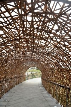 Structure du tunnel en bambou Taiwan Banque d'images
