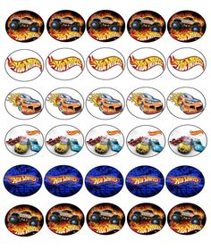 30 x hot wheels images edible cupcake toppers premium rice paper 245 Hot Wheels Birthday, Hot Wheels Party, Super Why Birthday, Sons Birthday, Imprimibles Hot Wheels, Bolo Hot Wheels, Edible Cupcake Toppers, Cars Birthday Parties, Rice Paper