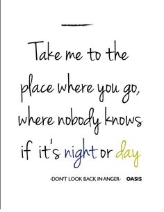 Lo que me dió 1:30 a.m. OASIS - Don't look back in anger -