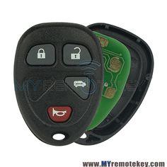 KOBGT04A Remote key fob for Buick Terraza Chevrolet Uplander Pontiac Montana 4 button 315mhz
