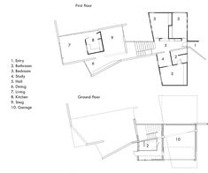 Dorrington Atcheson Architects design a complex home in the middle of suburbia which challenges the concept of what a family home should look like House Layout Plans, House Layouts, Inside Home, Architect Design, House Tours, How To Plan, How To Make, Concrete, Home And Family