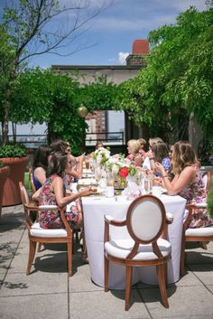 city views and champagne bridal shower