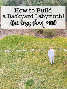 Building a labyrinth isn't a hard thing to do- if you use my plan to show you exactly how to lay out the paths! I was able to create my backyard labyrinth in just one afternoon, and for less than $100! #Backyard #Labyrinth #DIY Labyrinth Garden, Labyrinth Maze, Garden Inspiration, Garden Ideas, Garden Crafts, Garden Tips, Organized Mom, You Used Me, Ponds Backyard