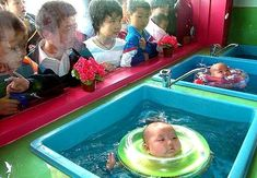 Weird Japanese Invention: Baby water ring.
