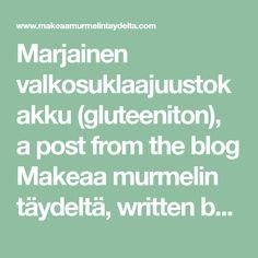 Marjainen valkosuklaajuustokakku (gluteeniton), a post from the blog Makeaa murmelin täydeltä, written by Heidi Harjula on Bloglovin' Writing, Blog, Blogging, Being A Writer