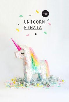 Diy tuto pinata licorne - unicorn - par Oh happy day - - sélection articles et idées anniversaire licorne - enfants - kids - unicorn - party - birthday - jeux - animation - cadeaux invités - gift - conte de fée - princesse - chevaler - magicien