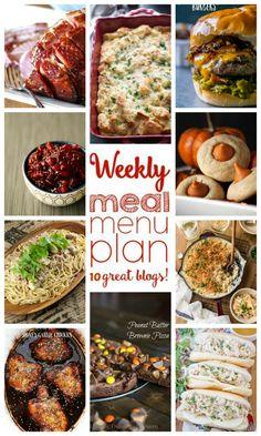 Weekly Meal Plan Week 68