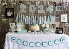 Last year our youngest of four kiddos graduated from high school.  She's ouronly girl, so I wasreallyready to break from the masculine look  and come up with somepretty, stylish ideas for a graduation party!  I wanted to make the celebration personal and special, so I incorporated  custom, personalized touches wherever I could.