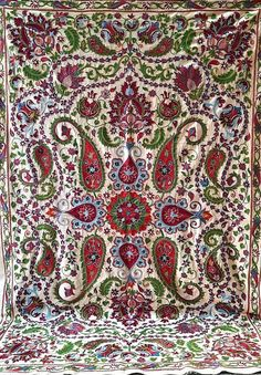 American Houses, Contemporary Embroidery, Ikat Fabric, Fabric Strips, Central Asia, Handmade Pillows, Cotton Silk, Bed Spreads, Traditional Art