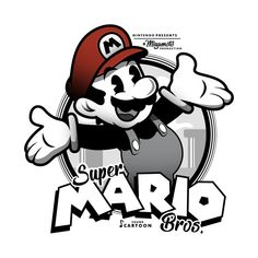 Shop Plumber mario t-shirts designed by SoleVision as well as other mario merchandise at TeePublic. Super Mario Bros, Super Mario Kunst, 1930s Cartoons, Classic Cartoons, Cartoon Drawings, Cartoon Art, Mario And Luigi, Vintage Cartoon, Video Game Art