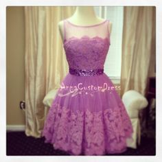 Short Purple Sequins Bead Lace Prom Dress Knee-length Straps Cheap Graduation Dress Formal Dress Cocktail Dress Homecoming Dress 2014 on Etsy, $99.00