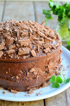 "A fantastic treat for St Patrick's Day. Wonderfully rich and moist, it keeps for up to a week. The Guinness adds moisture and a subtle ""hoppy"" flavour to the cake. There's no chocolate inside, but lots of cocoa. Karen shares how to make this all-in-one celebratory cake."