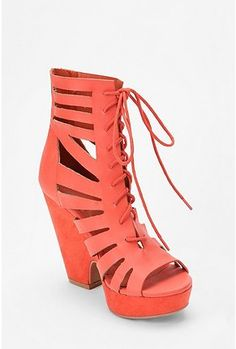 I really want these, I just <3 the color.  UrbanOutfitters.com > Kimchi Blue Lasercut Split Wedge