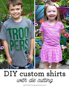 DIY Custom Shirts with Die Cutting Video by Jennifer McGuire Ink