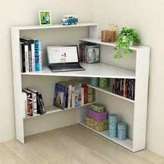 Mesa de canto com suporte para livros - MDF 18mm - Nichos Decorações