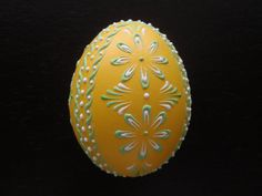 Items similar to Hand Decorated Real Egg Pysanka, Wax Embossed Chicken Egg in Yellow on Etsy Egg Crafts, Easter Crafts, Polish Easter, Egg Shell Art, Carved Eggs, Egg Tree, Easter Egg Designs, Ukrainian Easter Eggs, Felt Christmas Decorations