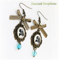 Alice Blue Bow Wonderland Earrings