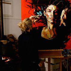 WL4 Studio24 Potrait Painting, Abstract Portrait, Woman Painting, Portrait Art, Painting & Drawing, Portraits, Ap Studio Art, Paintings I Love, Abstract Photography