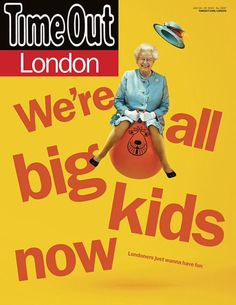 Queen on a space hopper, new cover @TimeOutLondon design #MarkNeil https://instagram.com/p/5MUoFMiFqF/