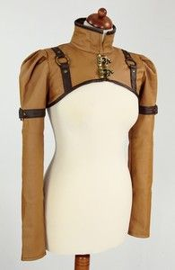 steampunk bolero schrug brown faux leather swing hooksI think I should be allowed to wear this on an almost daily basis. Steampunk Couture, Steampunk Jacket, Steampunk Design, Steampunk Clothing, Steampunk Fashion, Gothic Fashion, Victorian Fashion, Vintage Fashion, Casual Steampunk