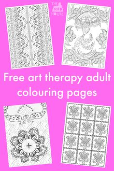 Free art therapy adult colouring pages. These super adult colouring pages are perfect for joining the colouring craze with these free printables