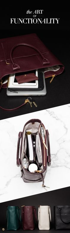 All bags should be made like this. A pocket for everything so you can carry it all. Shop at Stylizio for womens and mens designer handbags luxury sunglasses watches jewelry purses wallets clothes underwear Work Tote, Work Bags, Hobo Purses, Purses And Bags, Fashion Bags, Fashion Accessories, Fashion Jewelry, College Bags, What In My Bag