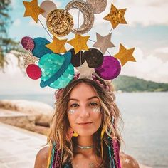 Mega beautiful disguise ❤ Festival Girl on the way to the stars Carnival . - Petra homepage Mega beautiful disguise ❤ Festival Girl on the way to the stars Carnival… Halloween Look, Halloween 2019, Halloween Outfits, Holidays Halloween, Halloween Party, Mardi Gras Costumes, Diy Costumes, Carnival Costumes, Space Costumes