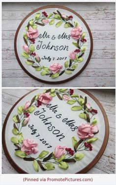 Cotton Anniversary gift for couple gift Custom Wedding Embroidery hoop Embroidered Wedding Gift rustic decor for Wedding Date Announcement https://www.etsy.com/MissKonvalia/listing/602015555/cotton-anniversary-gift-for-couple-gift?ref=shop_home_active_3  (Pinned using https://PromotePictures.com)