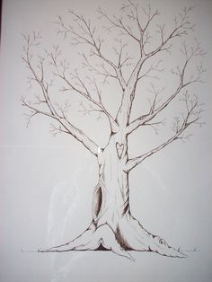 Fingerprint Trees-hand drawn with waterproof and by WhataSteele