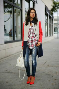 Love the bright colors and always love plaid!