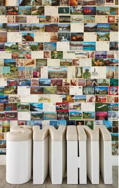post card wall