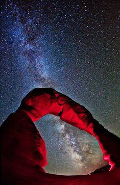Delicate Arch Stretches Towards the Milky Way Photo by Jon Martin