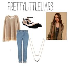 """""""spencer hastings"""" by iamvalerianl ❤ liked on Polyvore featuring beauty, Gianvito Rossi and Michael Kors"""