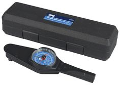 OTC 7380 Accutorq 0-150 in. lbs. Dial Torque Wrench. This torque wrench features a large easy-to-read dial scale with memory needle and has chrome-plated steel surrounding the bezel to protect the scale lens and needle. Meets all federal specification. 0-150 in. pounds Accutorq dial torque wrench. Includes molded plastic case. One-year warranty.