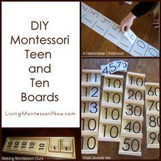 DIY Montessori Teen and Ten Boards #SuliaMoms #homeschool #Montessori