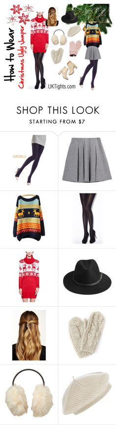 """""""How to Wear your Christmas Ugly Jumper"""" by uktights ❤ liked on Polyvore featuring OROBLU, Jonathan Aston, BeckSöndergaard, Natasha Accessories, Bibico, Uniqlo, Harrods, Mario Portolano, STELLA McCARTNEY and uglyjumper"""