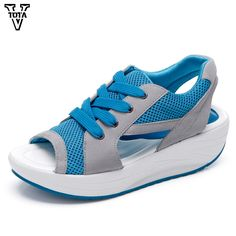 14.93$  Buy now - http://ali560.shopchina.info/go.php?t=32703880663 - 2017 Fashion Summer Mesh Sandals Women Casual shoes wedges Handmade Women's Sandals sandalias mujer Platform Sandalias X496  #magazineonlinebeautiful